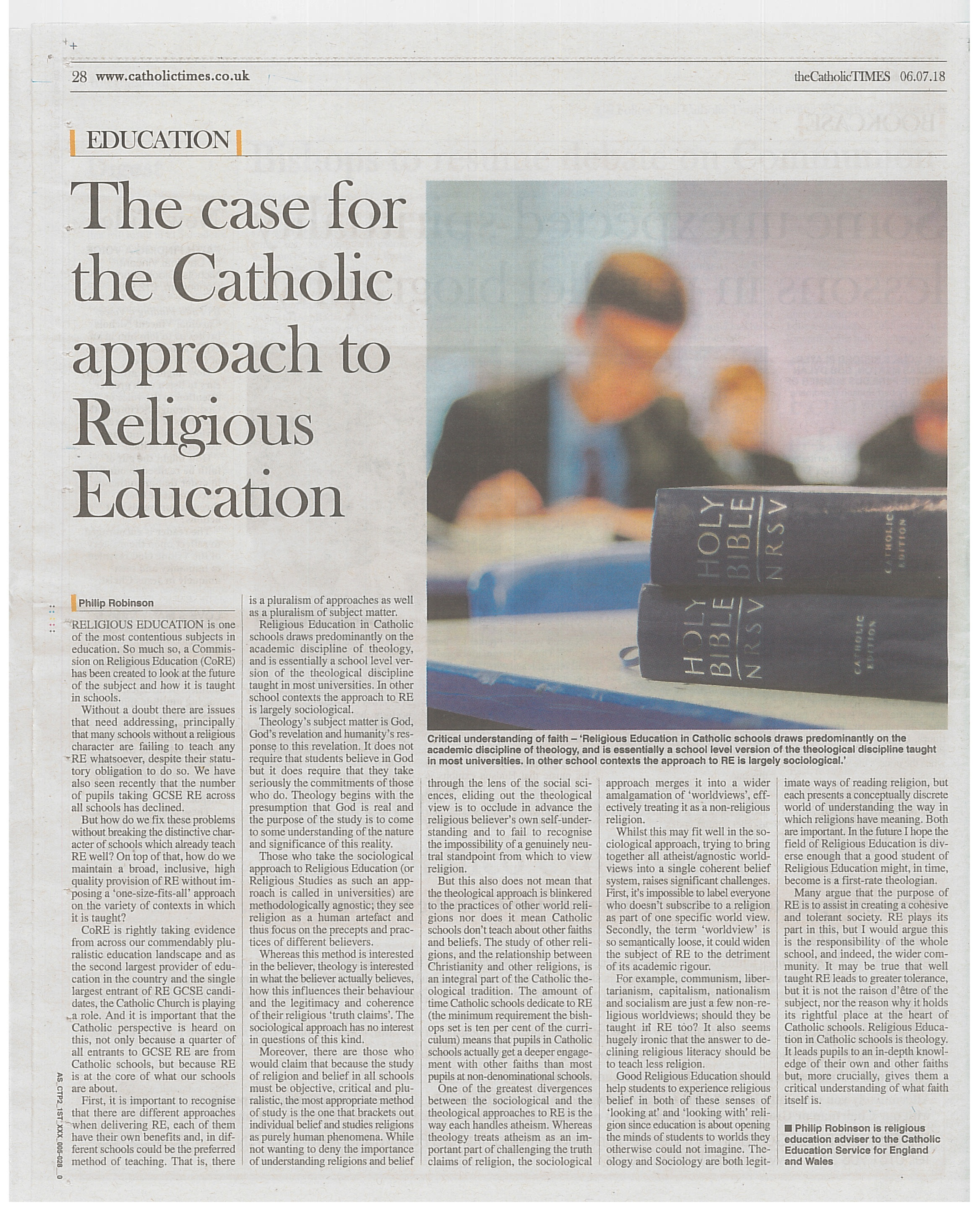 Catholic Times RE
